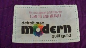charity quilt label